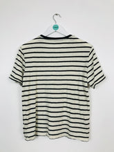 Load image into Gallery viewer, Ralph Lauren Womens Stripe T-shirt | UK10 | Black and cream