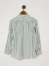 Load image into Gallery viewer, A.P.C Women's Stripe Collarless Shirt | UK8-10 S | White APC