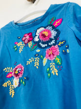 Load image into Gallery viewer, Monsoon Kid's Embroidered Long Sleeve T-Shirt | 3-4 Years | Blue