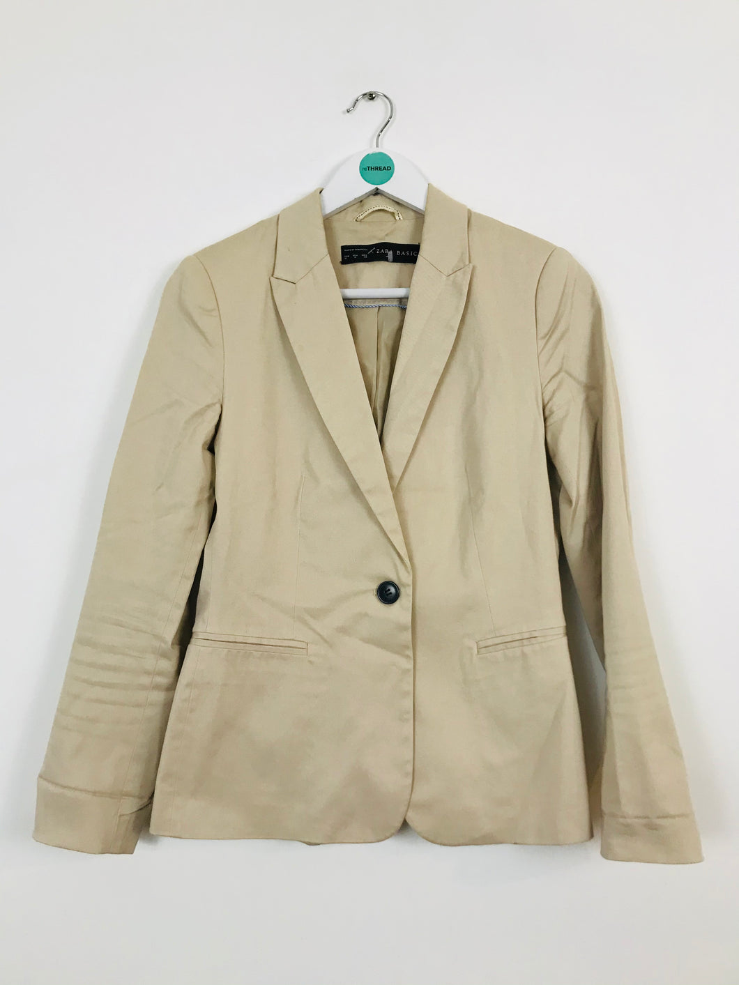 Zara Women's Tailored Blazer Suit Jacket | M | Beige