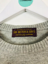 Load image into Gallery viewer, Sir Diston & Sons Womens Cashmere Knited Top | UK12-14 | Grey