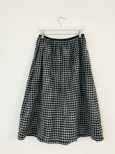 Load image into Gallery viewer, Toast Checkered Midi Skirt | UK10 | Black