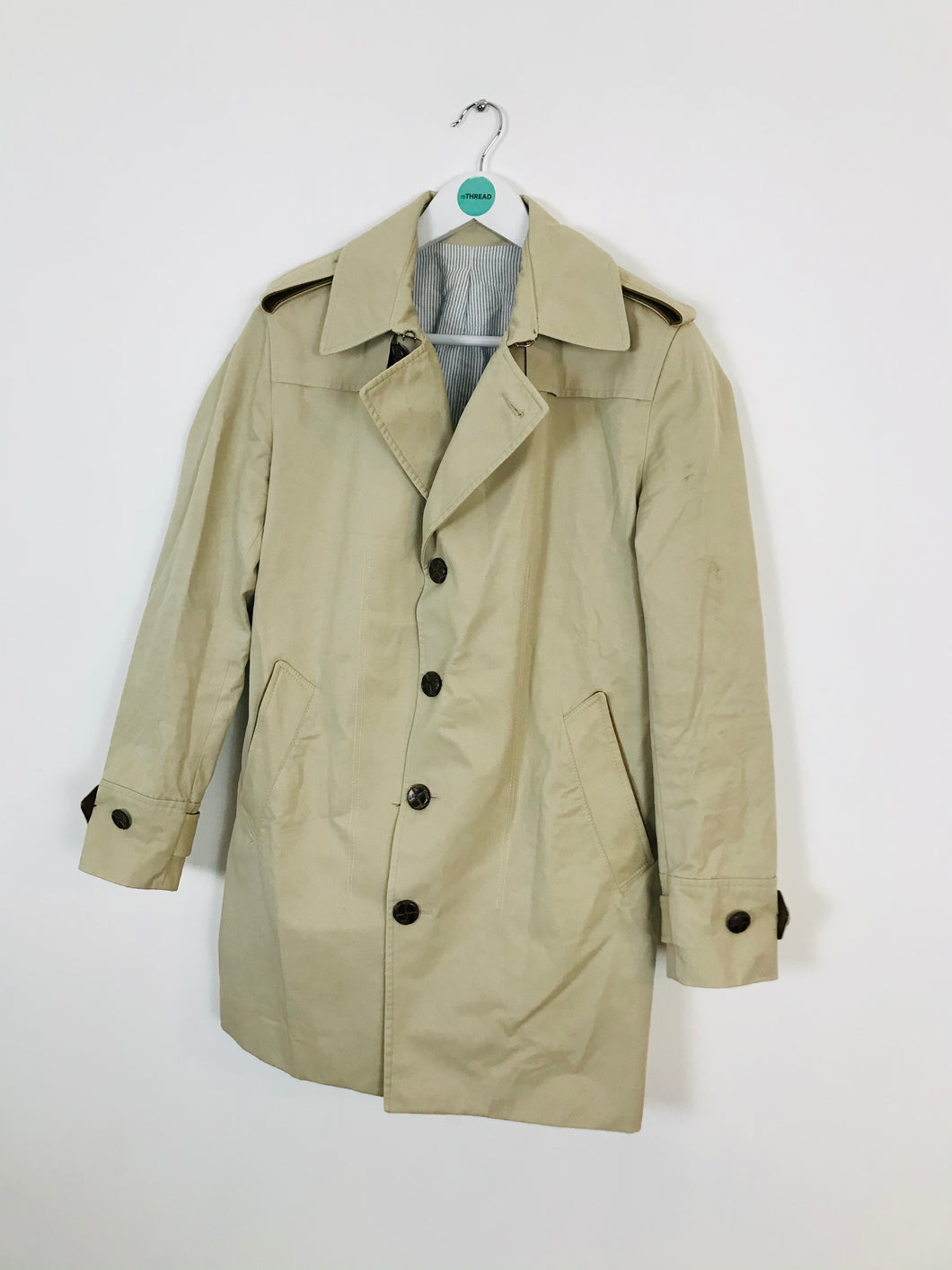 Sandro Men's Trench Coat | S | Brown