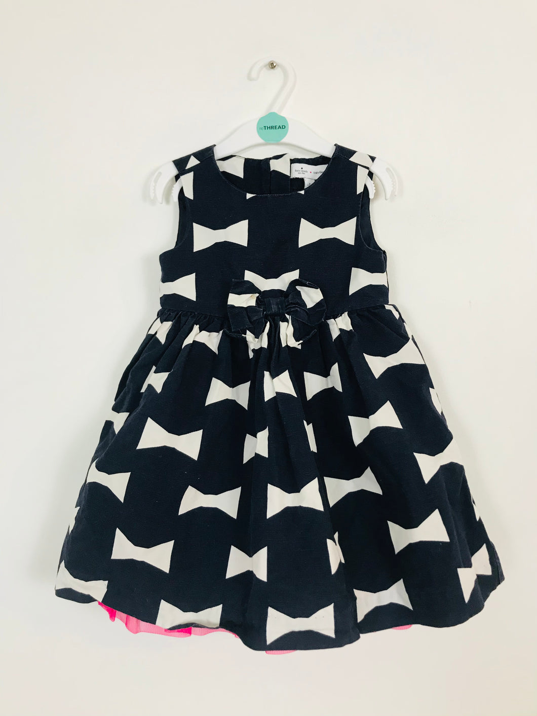 Kate Spade x Baby Gap Kid's Bow Printed Aline Dress | 3 Years | Blue