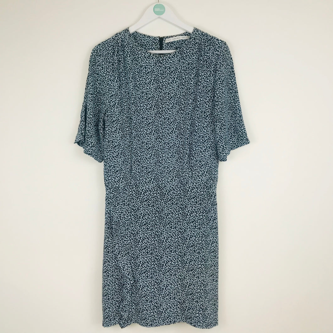 & Other Stories A-Line Dress | UK14 | Blue Dot Print