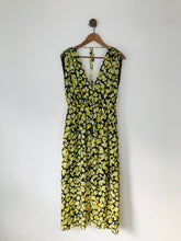 Load image into Gallery viewer, & Other Stories Women's Floral Gathered Maxi Dress | UK10 EU38 | Yellow
