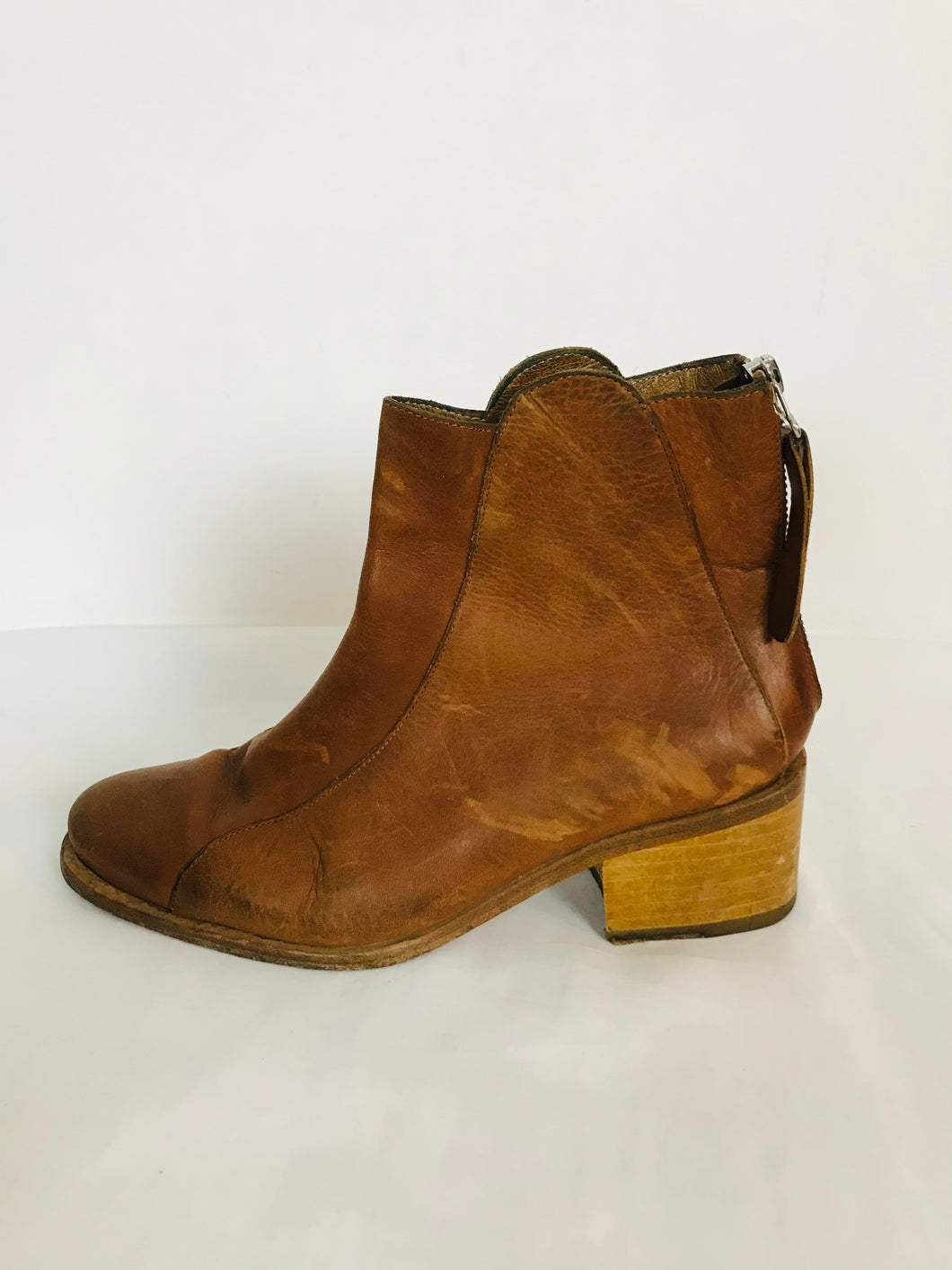 Folk Women's Leather Ankle Boots | 37 UK4 | Brown