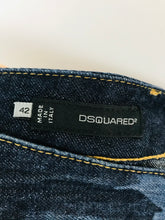 Load image into Gallery viewer, Dsquared2 Womens Cropped Camo Jeans | 42 M UK10 | Blue