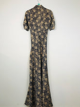 Load image into Gallery viewer, Nancy Mac Womens Empire Waist Maxi Dress | UK10 | Navy and Gold