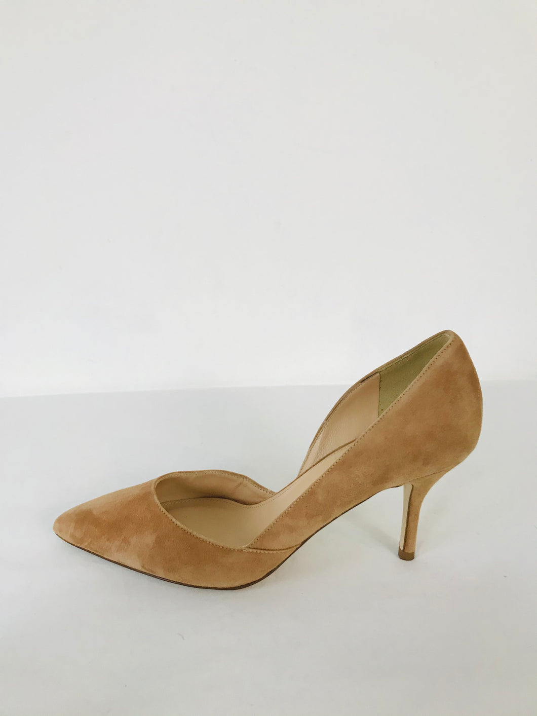 J. Crew Women's Suede D'Orsay Heels | US6 UK4 | Tan