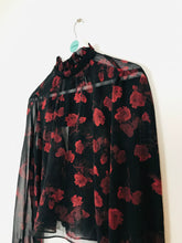 Load image into Gallery viewer, Zara Womens Floral Blouse | S UK 8 | Black