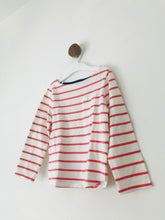 Load image into Gallery viewer, John Lewis Kid's Long Sleeve Striped T-Shirt | 6 Years | White