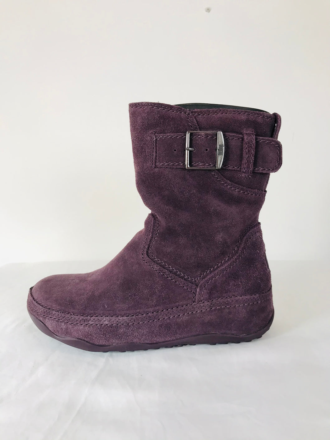 Fitflop Women's Short Suede Superboot Boots NWT | UK5 | Amethyst Purple