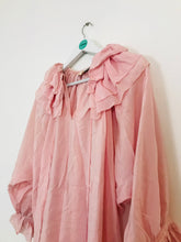 Load image into Gallery viewer, Juliet Dunn Women's Silk Ruffle Blouse Top | Pink | UK10