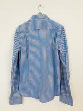 Load image into Gallery viewer, Superdry Men's Pinstripe Long Sleeve Shirt | XL | Blue