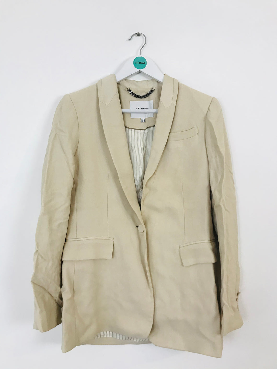 L.K.Bennett Women's Suit Jacket Blazer | UK10 | Cream Beige