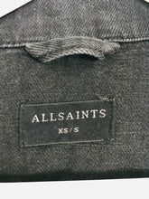 Load image into Gallery viewer, Allsaints Women's Oversized Cropped Distressed Denim Jacket | XS-S | Black