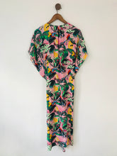 Load image into Gallery viewer, & Other Stories Women's Tropical Print Kaftan Midi Dress | S | Pink Multi