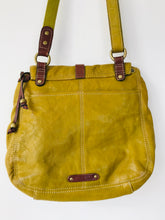 Load image into Gallery viewer, Fossil Women's Leather Shoulder Crossbody Bag | Medium | Mustard Yellow