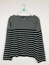 Load image into Gallery viewer, Agnes B Homme Mens Stripe Jumper | Size 2 L | Black White