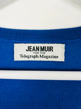 Load image into Gallery viewer, Jean Muir Womens Long Wool Cardigan | M | Blue