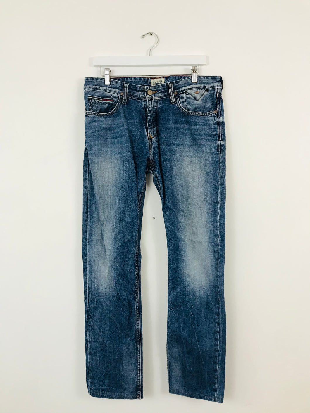 Tommy Hilfiger Denim Men's Straight Fit 85 Jeans | 32 M | Blue