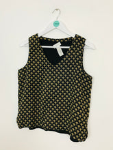 Load image into Gallery viewer, Liz Claiborne Women's Patterned Sleeveless Blouse | UK8 | Black
