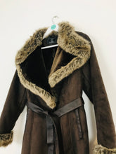 Load image into Gallery viewer, Rino & Pelle Women's Faux Fur Suede Coat | UK10-12 | Brown