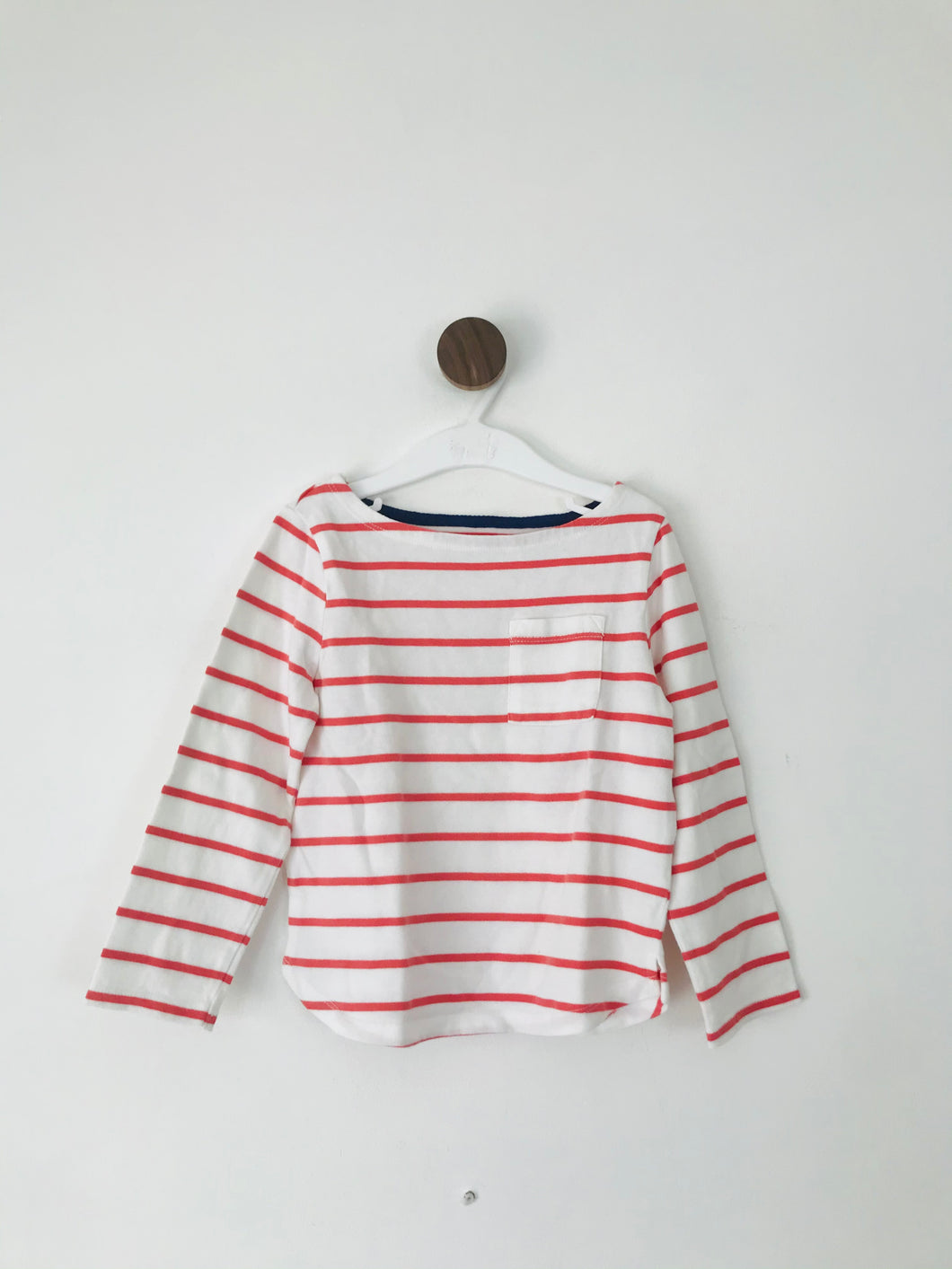 John Lewis Kid's Long Sleeve Striped T-Shirt | 6 Years | White