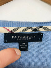 Load image into Gallery viewer, Burberry Women's Cotton V Neck Cardigan | M UK10-12 | Blue