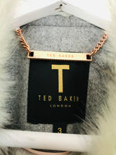 Load image into Gallery viewer, Ted Baker Women's Faux Fur Peacoat | 3 UK12 | Grey