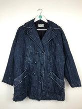 Load image into Gallery viewer, Current/Elliott Womens Denim Pea Coat | UK14 | Blue