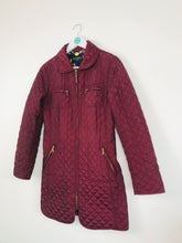 Load image into Gallery viewer, Hobbs Womens Quilted Longline Jacket | UK8 | Burgundy