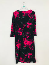Load image into Gallery viewer, Precis Women's Floral Long Sleeve Midi Dress | UK14 | Black Pink