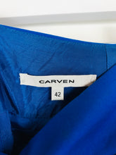 Load image into Gallery viewer, Carven Womens Pleated A-line Skirt | EU42 UK14 W32 | Blue