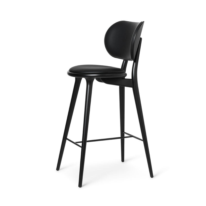 High Stool Backrest Barstol, 74 cm - Sort Bøg