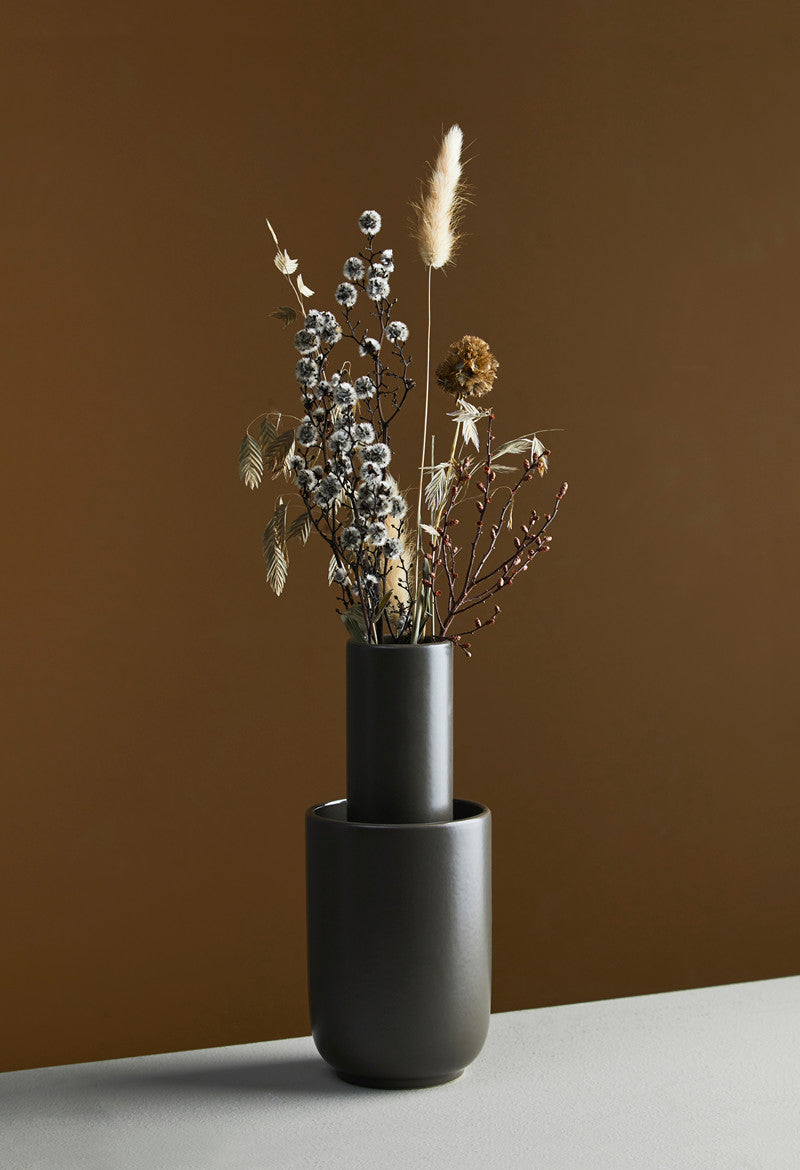 Amel Vase, Small - Taupe