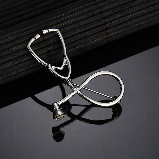 Stethoscope Brooch Pin