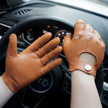 Load image into Gallery viewer, mens brown leather gloves