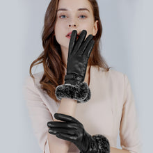 Load image into Gallery viewer, womens black leather gloves