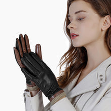 Load image into Gallery viewer, black ladies gloves
