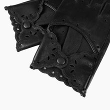 Load image into Gallery viewer, ladies black leather gloves
