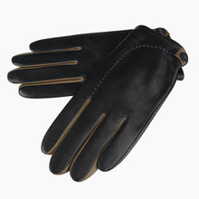 Load image into Gallery viewer, black leather gloves