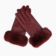 Load image into Gallery viewer, red leather gloves
