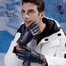 Load image into Gallery viewer, mens leather winter gloves