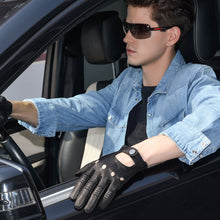 Load image into Gallery viewer, mens leather driving gloves