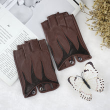 Load image into Gallery viewer, fingerless leather gloves