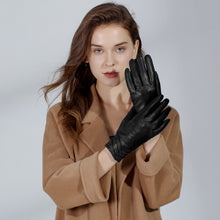 Load image into Gallery viewer, leather gloves for women