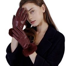 Load image into Gallery viewer, warm leather gloves