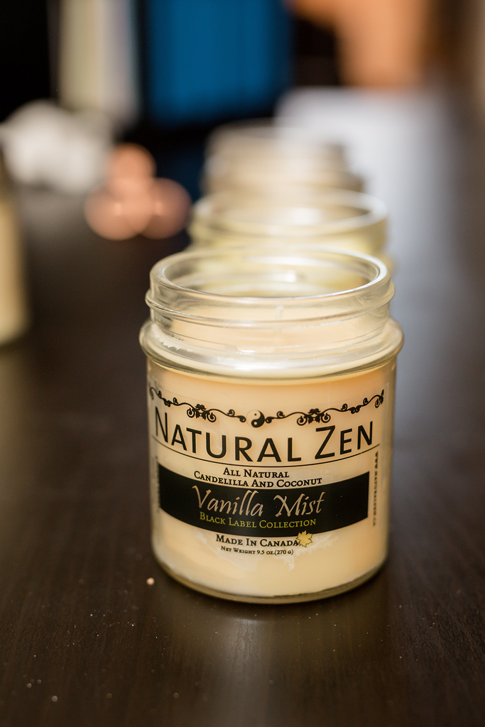 Candelilla And Coconut Wax 10 Oz. Jar Candles - Natural Zen Home Fragrance Studio